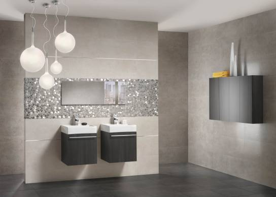 Concrete look bathroom tiles Sydney