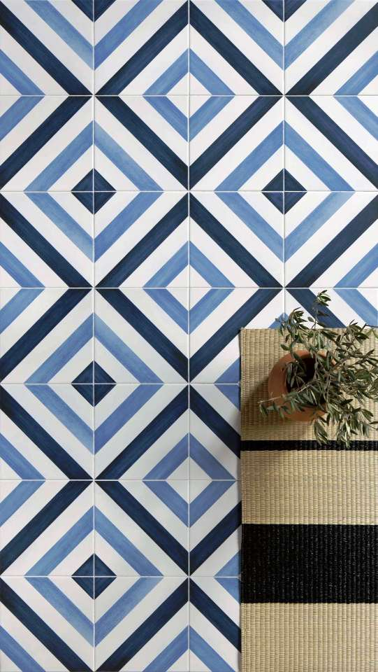 blue tiles Sydney floor artisan inspired
