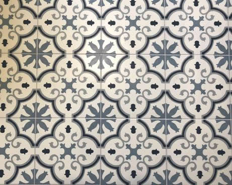 Encaustic reproduction tiles Sydney Blue