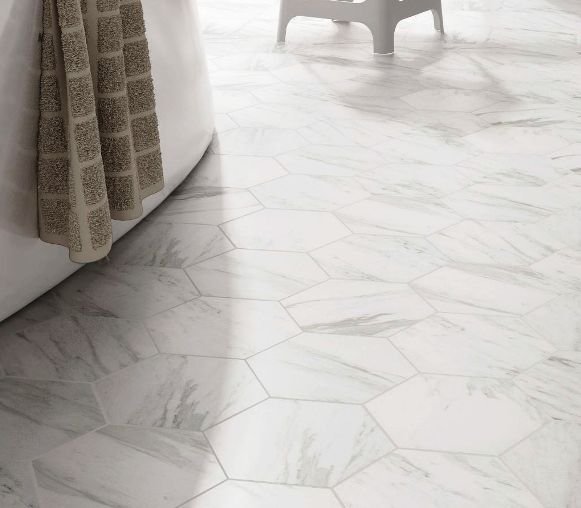 Hexagon Tile Sydney Carrara Marble