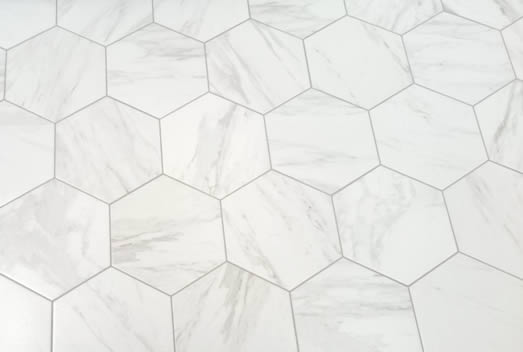 hexagonal carrara tile sydney