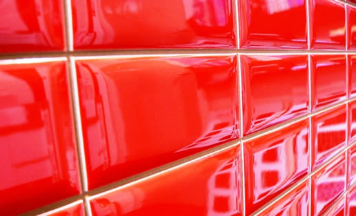 Red mosaic wall tiles Sydney