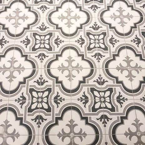 Sydney black and white a patterned artisan floor tiles