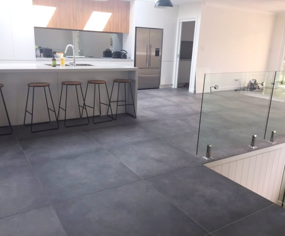 Concrete look tiles Sydney on bathroom design