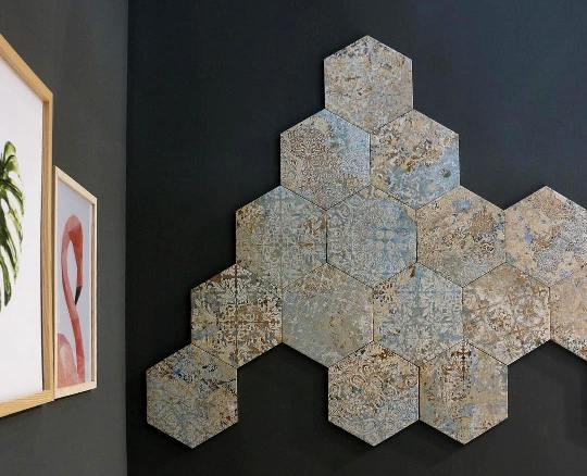 Hexagon Tiles Sydney Wall Hex Tile Feature Wall Mosaic Gaudi