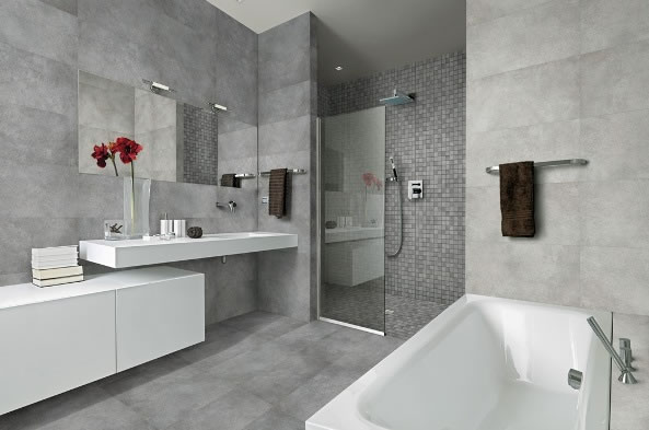 concrete tiles sydney bathroom - Bathroom Tiles Combination