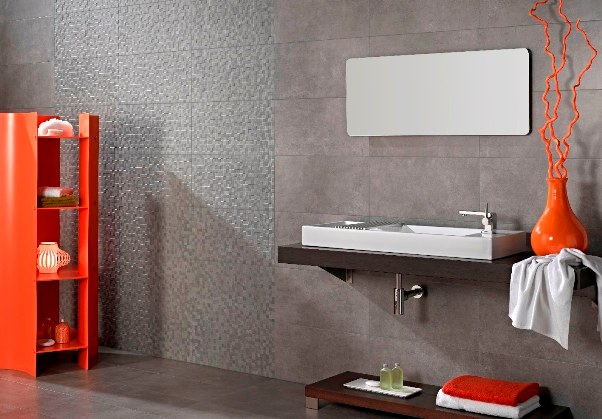 concrete look bathroom wall floor tiles Sydney