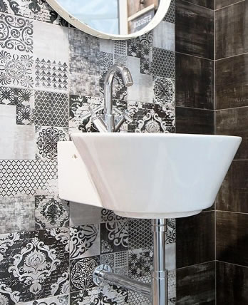 feature wall bathroom tiles Sydney Australia