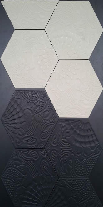 Hexagon Gaudi Tile Sydney Feature Wall Bathroom