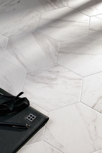 hex carrara tiles Sydney
