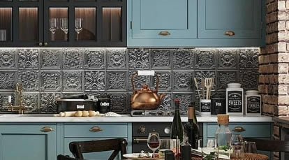kitchen splashback pressed tin Sydney