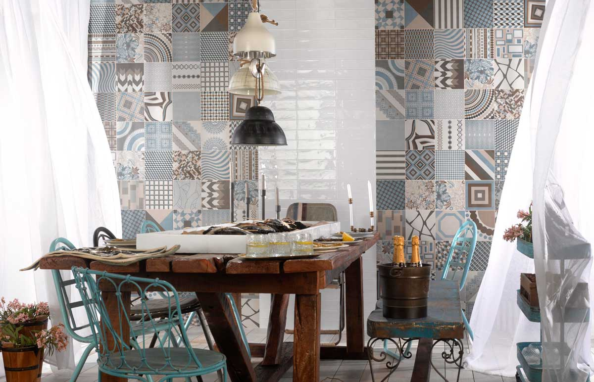 pattern tiles feature wall Sydney renovation