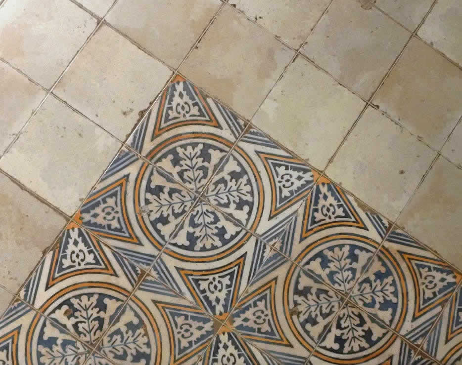 Moroccan tile patterned sydney spanish tiles bespoke Moroccan ceramic floor tile