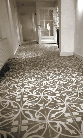 Encaustic Sydney Tiles Patterned Decorative Atrisan Floor Tiles - Faux encaustic tile