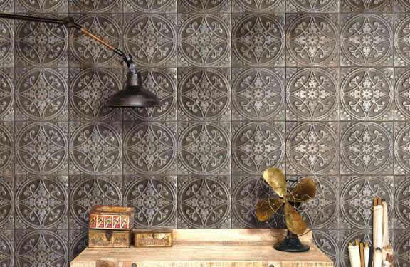Pressed tin splashback Sydney tiles