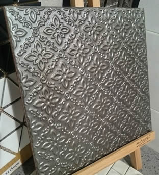 pressed tin tiles sydney bathroom feature