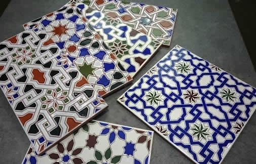 Moroccan tiles Sydney wall feature
