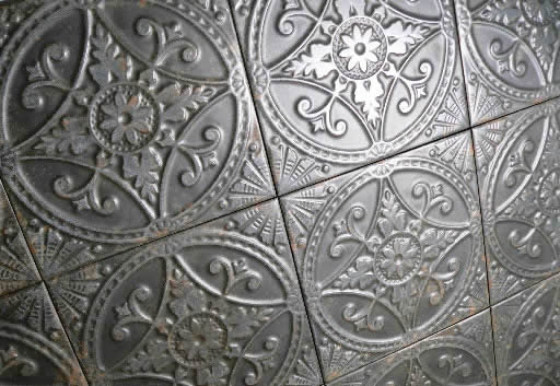 pressed tin tiles Sydney feature walls