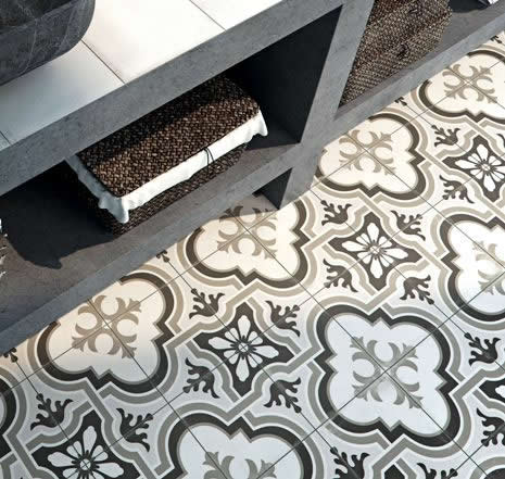 black and white bathroom tiles Sydney