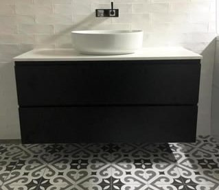 black and white tiles Sydney bathrooms