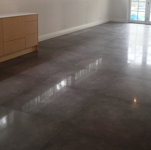 Large Polished Concrete Floor Tiles Gurus Floor